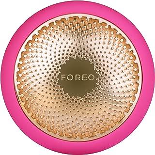 FOREO UFO 智能面膜护理仪,紫红色,只需90秒即可完成面膜护理,拥有加热、冷却、LED光疗和声波脉动技术,可连接智能手机app