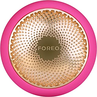 FOREO UFO 智能面膜護理儀,紫紅色,只需90秒即可完成面膜護理,擁有加熱、冷卻、LED光療和聲波脈動技術,可連接智能手機app