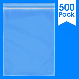 500 Count - 9 X 12, 2 Mil Clear Plastic Reclosable Zip Poly Bags with Resealable Lock Seal Zipper by Spartan Industrial (More Sizes Available)