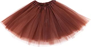 Women's Adult Classic Elastic 3 or 4 Layered Tulle Tutu Skirt