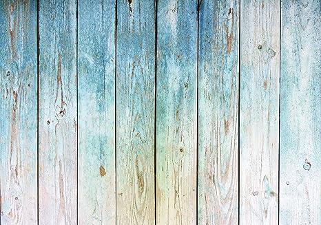 Vließ Fototapete Tapete Wandbild Blaues Holzbretter 310670/_VENMVT