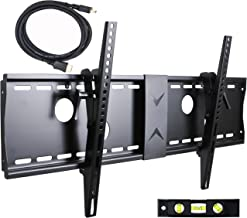 VideoSecu Tilt TV Wall Mount Bracket for Most 37 to 75-Inch LCD LED Plasma Screen Display up to VESA 400X400 684X300 600x400mm with HDMI Cable, Bubble Level MP502B 3KR