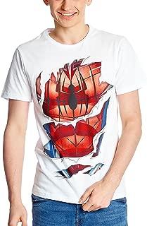 Camiseta de Hombre Suit Marvel Blanco algodón