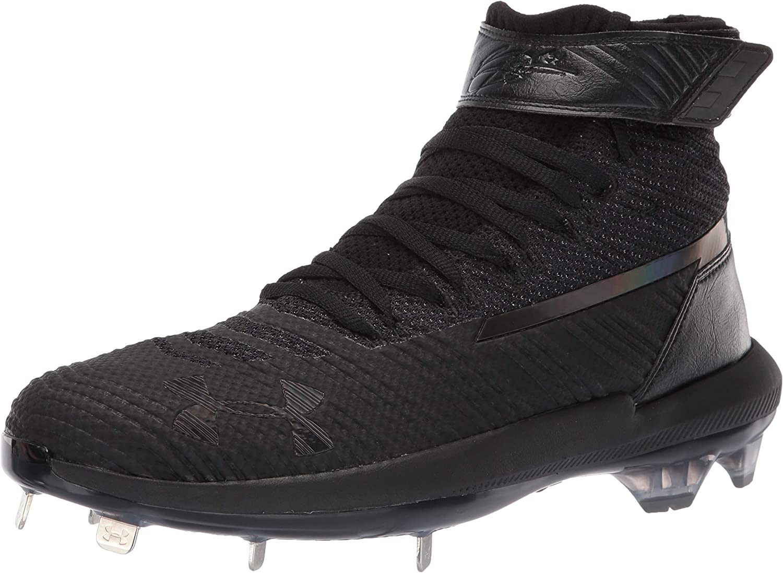 Under Armour Mens Harper 3 Mid ST Metal Baseball Shoe