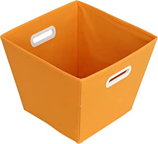 Sukima Decor Panier de Rangement, Tissu, Orange, 29x 29cm