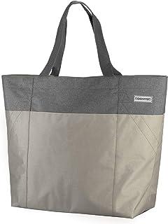 anndora XXL Shopper Champagner grau - Strandtasche 40 Liter Schultertasche Einkaufstasche