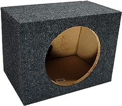 "Car Audio Single 10"" Sealed Subwoofer Rear Angle Sub Box Enclosure 5/8"" MDF Wood"