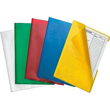 "Farbe gelb 10 Herlitz Aktenhüllen /""Pyramide/"" DIN A4 Sichthüllen"