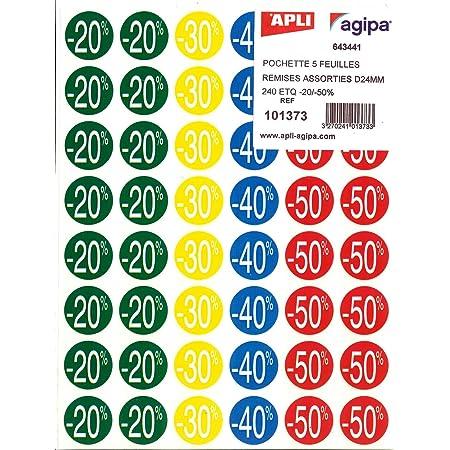 Rotolo da 400 Etichette ADESIVE 35MM 3 Euro Bollo Rosso Adesivo Saldi SCONTI 16397 TradeShop