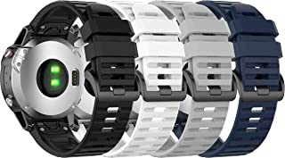 Compatible with Garmin Approach S62 Bands, Watch Bands Soft Rubber Strap Quick Fit Wristband for Approach S62 Smartwatch B...