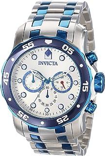 Invicta 13673 Reloj Análogo para Hombre, color Plata