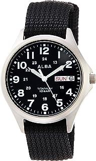 [セイコーウォッチ] 腕時計 アルバ クオーツ チタン スポーティー 日常生活用強化防水(10気圧) 日付・曜日表記付 AQPJ404 メンズ ブラック