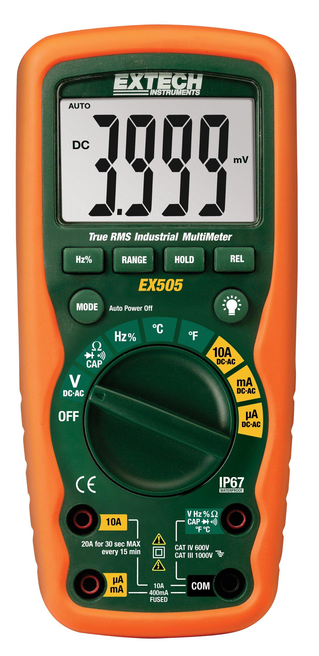 Extech EX505 Industrial MultiMeter Waterproof