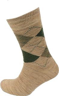 Viyella Made in England Mens Beige Argyle Wool Socks
