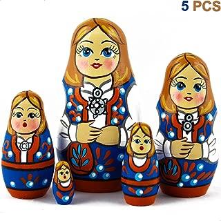 Matryoshka Nesting Dolls Set 5 pcs Norwegian National Costume Theme