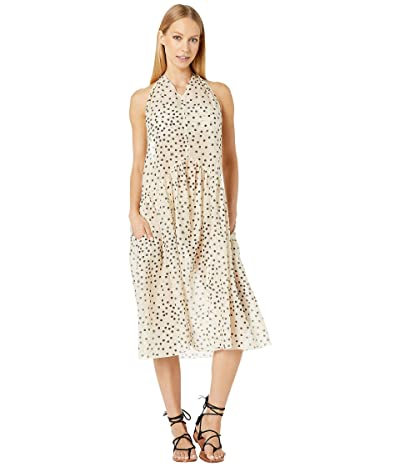 Stella McCartney Polka Dot Print Swim Maxi Dress (Cream/Black) Women