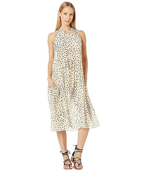 Stella McCartney Polka Dot Print Swim Maxi Dress