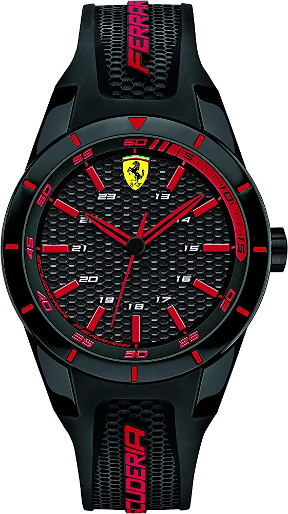 Scuderia ferrari ,orologio per uomo,cassa in acciaio inossidabile,cinturino in silicone 840004