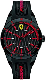 Ferrari Unisex-Adult 0840004 Year-Round Analog Quartz Black Watch
