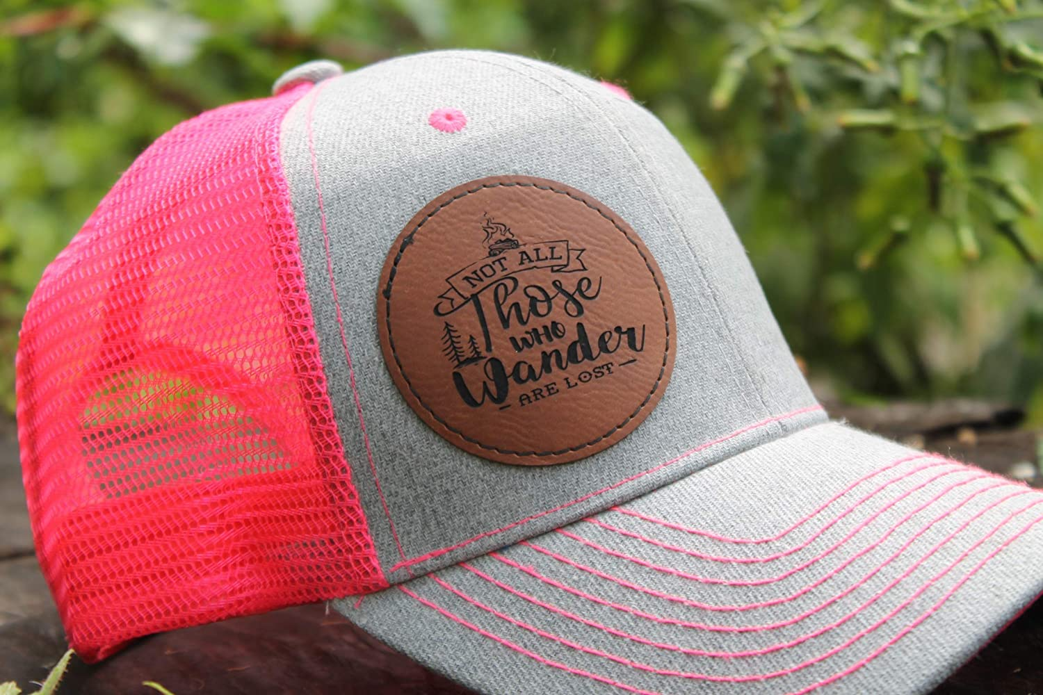 Pink Snap Max 50% OFF Back Trucker Hat with Not Who depot Wander Engraved Those at