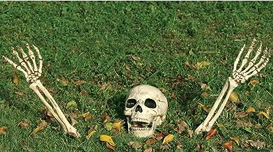 My Party Suppliers Big Size 3 Piece Halloween Horror Buried Alive Skeleton Skull Ornament Garden Yard Lawn Decoration Festival Prank Crafts Halloween Decoration