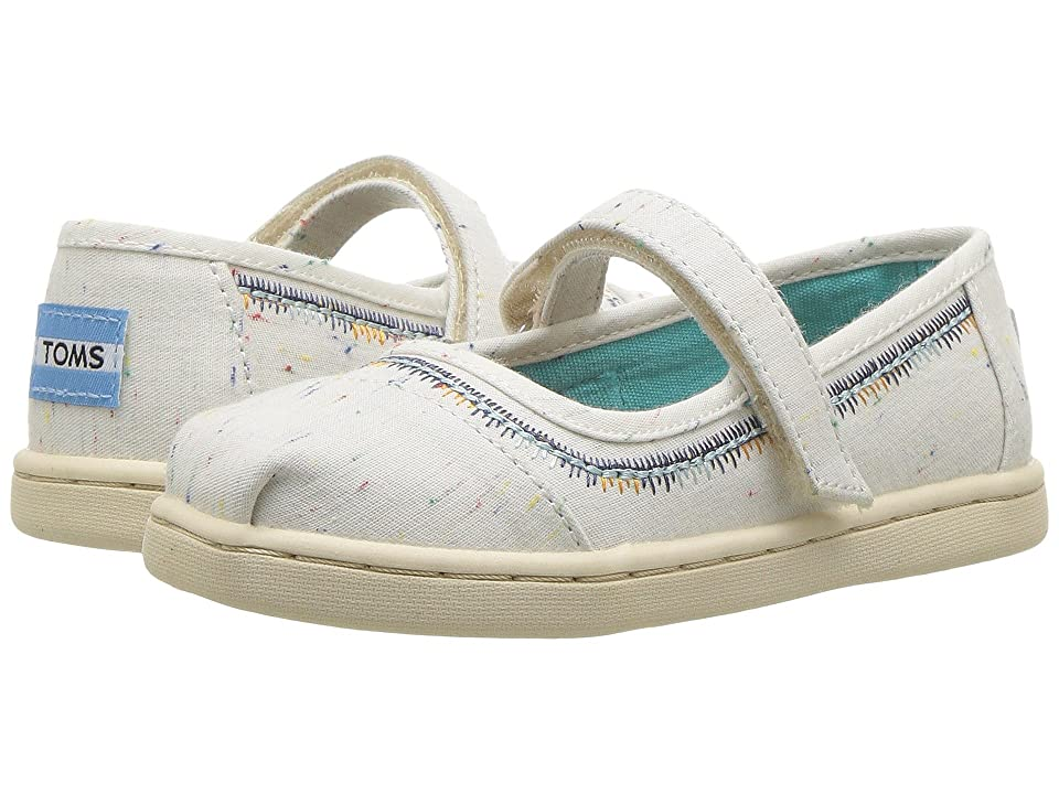 TOMS Kids Mary Jane (Infant/Toddler/Little Kid) (Birch Multi Fleck/Embroidery) Girls Shoes