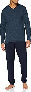 Schiesser Men's Essentials Schlafanzug Lang Pajama Set