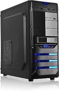 L-link Leonis - Caja ATX-Micro (USB 3.0) con Fuente 500 W, Color Negro
