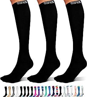 3-Pair Compression Socks (15-20mmHg) for Men & Women