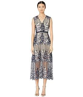 61a4e457113 Marchesa Corded Lace Off Shoulder Cocktail Dress with 3D Sequin ...