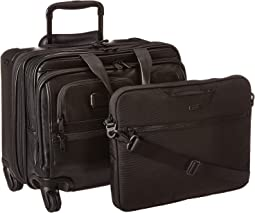 Tumi Alpha 2 - 4 Wheeled Deluxe Leather Brief with Laptop Case