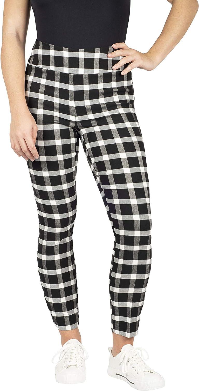 jules & leopold Women's Slim Leg Millenium Check Pant