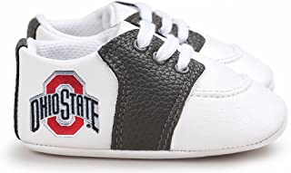 Future Tailgater Ohio State Buckeye Pre-Walker Baby Shoes - Black Trim