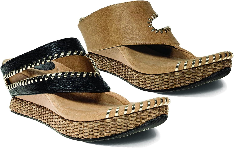 Modzori Tita Women's Mid Wedge Reversible Twister Sandal
