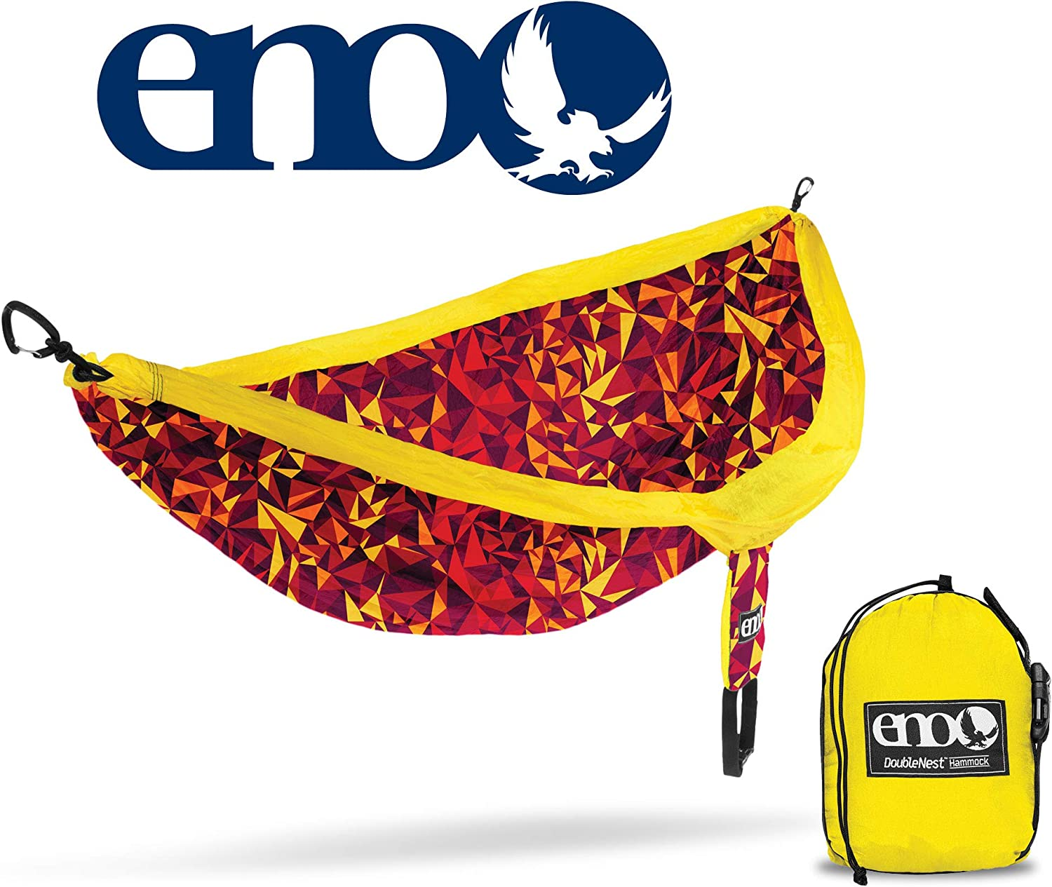 (Geo  Red)  ENO Eagles Nest Outfitters  DoubleNest Print, Portable Hammock for Two