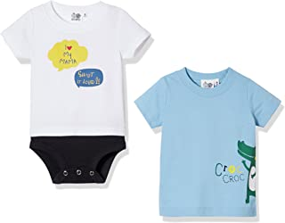 Baby Toddler Boys Outfit 2-Piece I Love Mommy Onesies Short Sleeve Bodysuit and T-Shirt Set