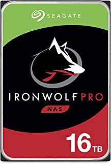 Seagate IronWolf Pro 16TB NAS Internal Hard Drive HDD – CMR 3.5 Inch SATA 6GB/S 7200 RPM 256MB Cache for Raid Network Atta...