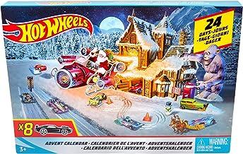 Hot Wheels Calendario De Adviento, con coches de juguete y accesorios (Mattel FKF95)