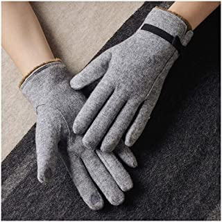 XAZTY Wool Gloves, Ladies Winter Touch Screen Gloves, Cashmere Warm Bike Driving Gloves