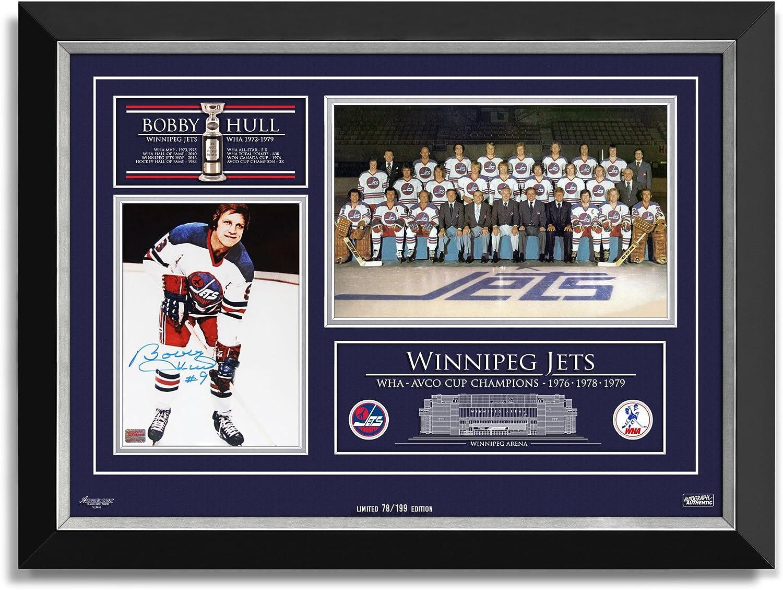 Bobby Hull Signed Winnipeg Jets WHA Champs, Ltd Ed 78 of 1991976, 1978, 1979