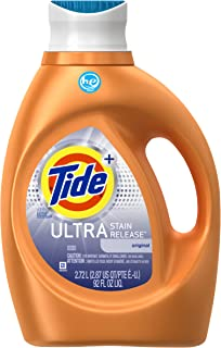 Tide Ultra Stain Release High Efficiency Liquid Laundry Detergent, Original Scent, 92 oz