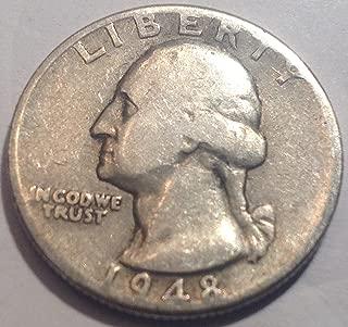 1948 D Washington Silver Quarter Good Detials