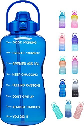 Venture Pal Large Half Gallon/64oz Motivational Water Bottle with Time Marker & Straw,Leakproof Tritan BPA Free Water...
