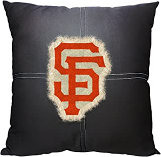 Officially Licensed MLB Decorative Letterman Pillow, Soft & Comfortable, Throws & Bedding, 18