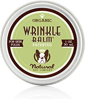 Natural Dog Company - Wrinkle Balm | Protects Dog's Skin Folds, Treats Dermatitis, Redness, Chafing, Inflammation | Organic, All-Natural Ingredients, Perfect for Bulldogs