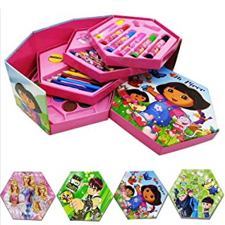 ARVANA Coloring Set / Box for Painting & Gifts for Girls/Boys/Kids (Pencil/ Crayons/Water Color/Sketch Pen) …