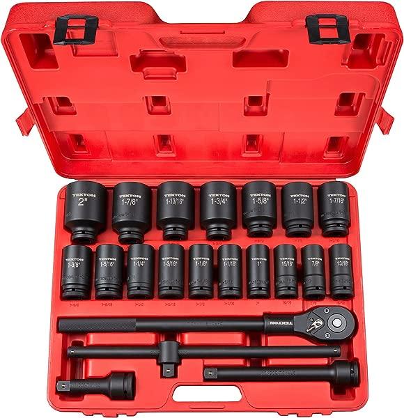 TEKTON 3 4 Inch Drive Deep Impact Socket Set Inch Cr Mo 7 8 Inch 2 Inch 22 Piece 48995