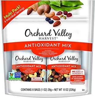 ORCHARD VALLEY HARVEST Antioxidant Mix, Non-GMO, No Artificial Ingredients, 1 oz, 8 count (Antioxidant Mix (3 pack))