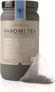 Paromi Tea Royal Breakfast Tea Full-Leaf, 15 Tea Bags, Organic Caffeinated Black Tea in Biodegradable Sachets, Delicious Hot or Iced, Great for Infusing Recipes