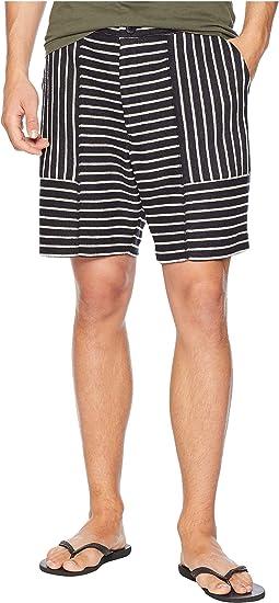 Cotton/Linen Striped Shorts